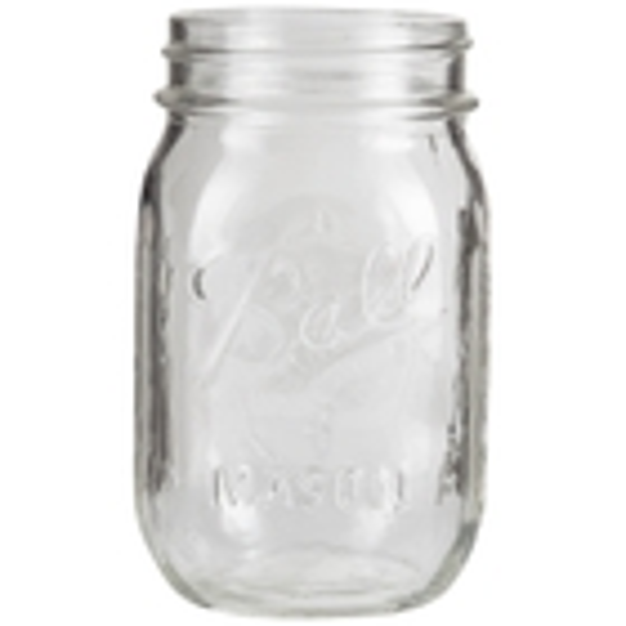 Ball 16 oz. (Pint) Mason Jars (No Lid, Bulk Packed)
