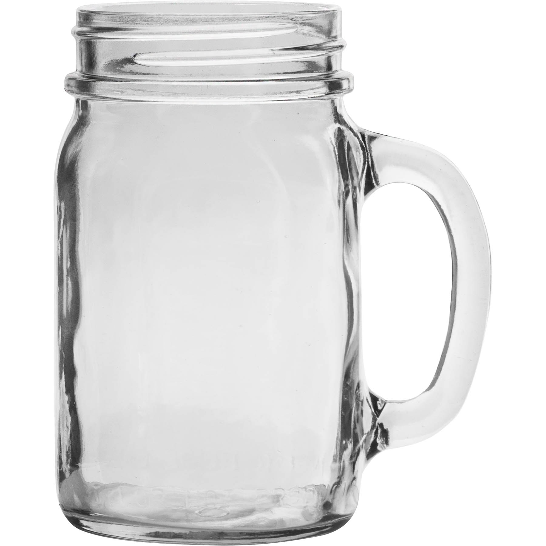 16 oz mason jar with handle bulk packed the cary company. Black Bedroom Furniture Sets. Home Design Ideas