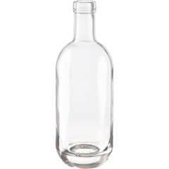 750 ml Clear Glass Moonea Liquor Bottle, Bar Top, 12/cs