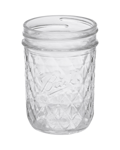 Ball 8 oz. (Half Pint) Quilted Crystal Jelly Jars (No Lid, Bulk Packed)