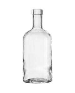 750 ml Clear Glass Oregon Liquor Bottle, Bar Top, 12/cs