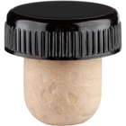 Synthetic Bar Top Cork, 27 x 19.5 mm Shank