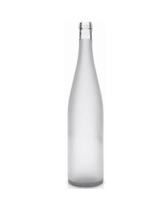 750 ml Frosted Stretch Hock Wine Bottles, Cork 12/cs