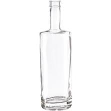 750 ml Clear Glass St. Louis Liquor Bottle, Bar Top, 12/cs