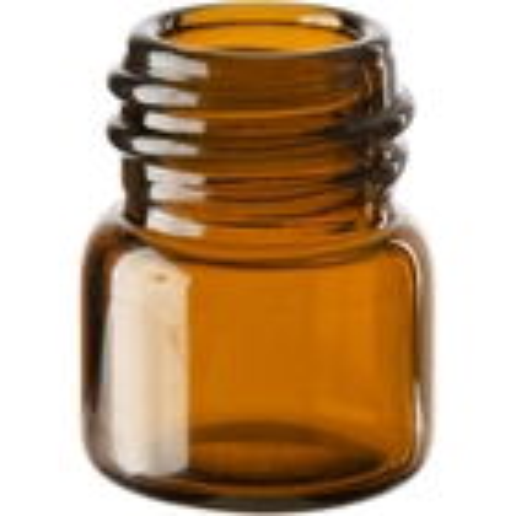 1/3 dram Amber Borosilicate Glass Vials, 13mm 13-425