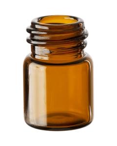 1/2 dram Amber Borosilicate Glass Vials, 13mm 13-425