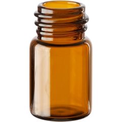 5/8 dram Amber Borosilicate Glass Vials, 13mm 13-425