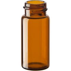 2-1/3 dram Amber Borosilicate Glass Vials, 18mm 18-400