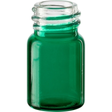 5/8 dram Green Borosilicate Glass Vials, 13mm 13-425