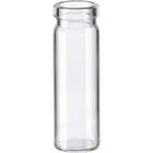 1 dram Clear Borosilicate Glass Cork Stopper Lip Vials (PC2)