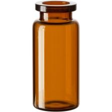 10 ml Amber A/S Blowback Type 1 Glass Serum Vials, 20mm