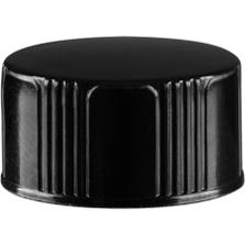 18mm 18-400 Black Phenolic Cap w/Tri-Foil® WP F217 Liner