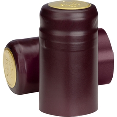 Burgundy Matte PVC Capsules w/Tear Tab, 500/pk