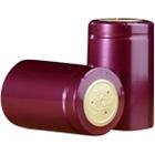 30 x 55mm Burgundy Shiny PVC Capsules w/Tear Tab, 500/pk
