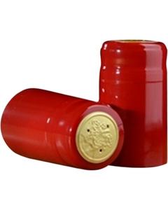 30 x 55mm Red Shiny PVC Capsules w/Tear Tab, 100/pk