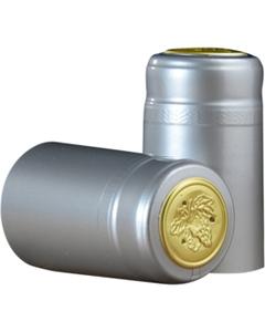 30 x 55mm Silver Glossy PVC Capsules w/Tear Tab, 100/pk