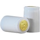 30 x 55mm White Shiny PVC Capsules w/Tear Tab, 500/pk
