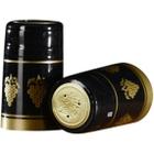 30 x 55mm Black w/Gold Grapes PVC Capsules w/Tear Tab, 100/pk