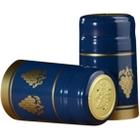 30 x 55mm Blue w/Gold Grapes PVC Capsules w/Tear Tab, 500/pk