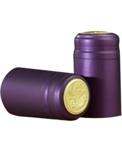 30 x 55mm Purple Matte PVC Capsules w/Tear Tab, 100/pk