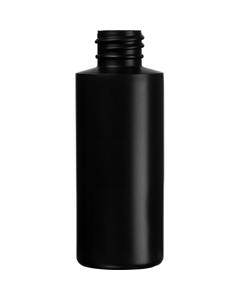 2 oz. Black HDPE Plastic Cylinder Bottle, 20mm 20-410, 9 Grams