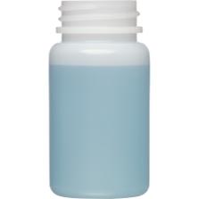 2 oz. (60 cc) Natural HDPE Plastic Packer Bottle, 33mm 33-400