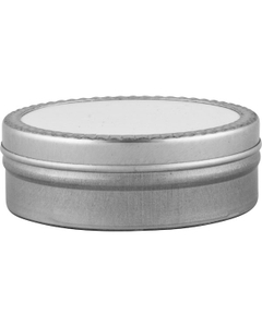 2 oz. Flat Seamless Slip Cover Can with Labeled Lid