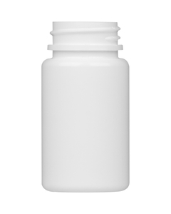 2 oz. (60cc) White Round Packer HDPE Bottle, 33mm 33-400