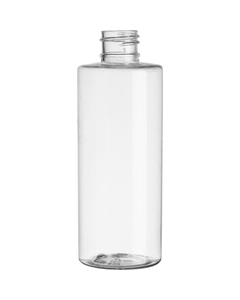 4 oz. Clear PET Plastic Cylinder Bottle, 20mm 20-410