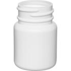 1 oz. (30cc) White HDPE Plastic Packer Bottle, 33mm 33-400