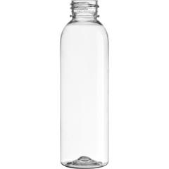 4 oz. Clear PET Plastic Bullet Round Bottle, 24mm 24-410