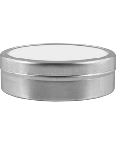 4 oz. Flat Seamless Slip Cover Can with Labeled Lid