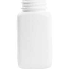 4 oz. (120cc) White Oblong Packer HDPE Bottle, 38mm 38-400