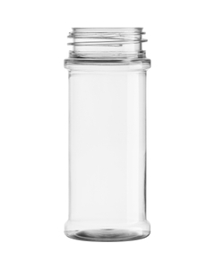 5.5 oz. Clear PET Plastic Spice Jar, 48mm 48-485, 22.5 Grams