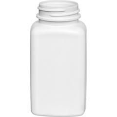4 oz. (125cc) White HDPE Oblong Packer Bottle, 38mm 38-400