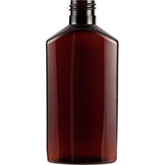 6 oz. Amber PET Plastic Drug Oblong Bottle, 24mm 24-410
