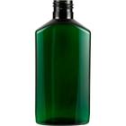 6 oz. Dark Green Narrow Neck Oblong PET Bottle, 24mm 24-410