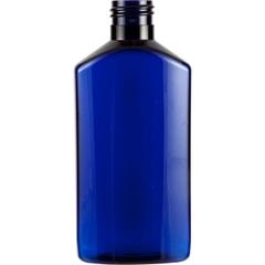 6 oz. Cobalt Blue PET Plastic Drug Oblong Bottle, 24mm 24-410