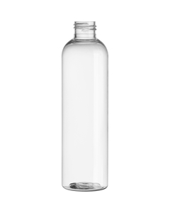 8 oz. Clear PET Plastic Bullet Round Bottle, 24mm 24-410