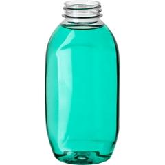 12 oz. Clear PET Plastic Hudson Oblong Bottle, 38mm 38-400