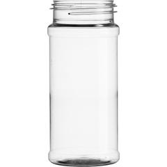 8.5 oz. Clear PET Plastic Spice Jar, 53mm 53-485