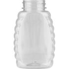 5.5 oz. (.5 lb.) PET Plastic Oval Queen Honey Bottle, 38mm 38-400