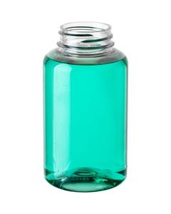 6.75 oz. (200cc) Clear PET Plastic Terrapin Round Packer Bottle, 38mm 38-400