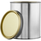 1 Quart Metal Paint Can with Lid, Gold Phenolic Lined