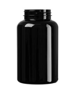 16 oz. (500 cc) Black PET Plastic Packer Bottle, 53mm 53-400