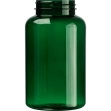 16 oz. (500 cc) Dark Green PET Plastic Packer Bottle, 53mm 53-400