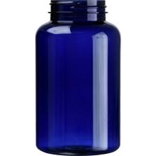 16 oz. (500 cc) Cobalt Blue PET Plastic Packer Bottle, 53mm 53-400