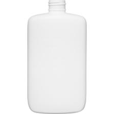 8 oz. White HDPE Plastic Oval Bottle, 24mm 24-410