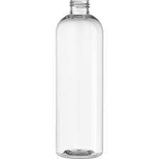 12 oz. Clear PET Plastic Bullet Round Bottle, 24mm 24-410