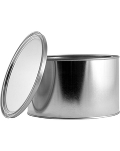 1/2 Gallon Short Metal Paint Can with Lid, Unlined